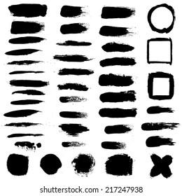 Black Blobs Set, Vector Illustration