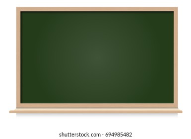 Black board blank space for text place on white blackground vector illustration.
