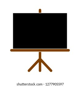 black board. presentation icon - blackboard isolated, presentation board illustration - board Vector