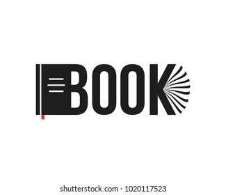black book abstract logo isolated on white. simple flat label trend modern logotype minimal graphic design bookshop template. concept of reading digital book university studying or booklet organizer