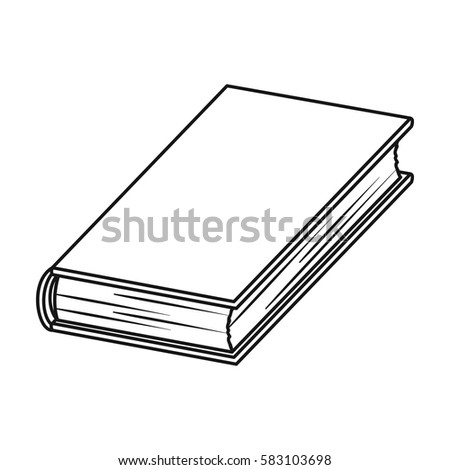 Black Book Icon In Outline Style Isolated On White Background Books Symbol Stock Vector Illustration