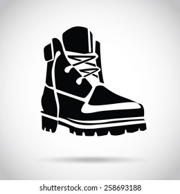 Black boot icon. Creative logo design elements. Great quality vector illustration.