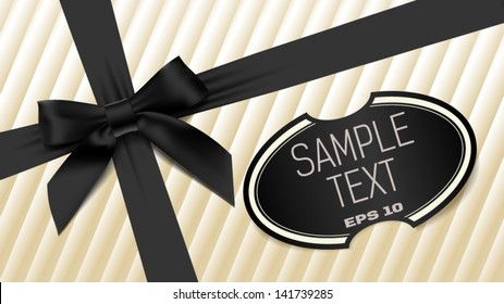 black bow on a white background textural