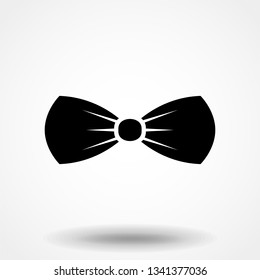 843fb2af6637 Black bow tie icon. Isolated sign bow tie on white background in flat  design.