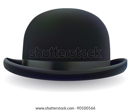 e2ab879691d Black Bowler Hat On White Background Stock Vector (Royalty Free ...
