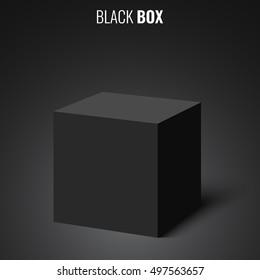 Black box. Cube. Vector illustration.