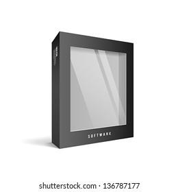 Black box software package, vector illustration
