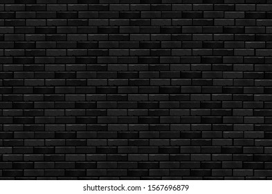 Black brick seamless pattern with light falling from above