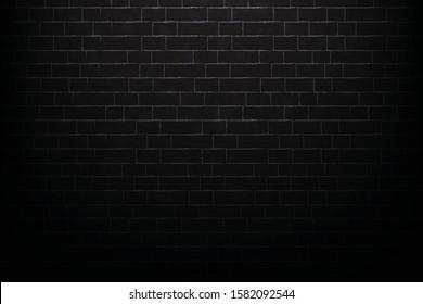 black brick wall background or texture vector design illustration eps.10
