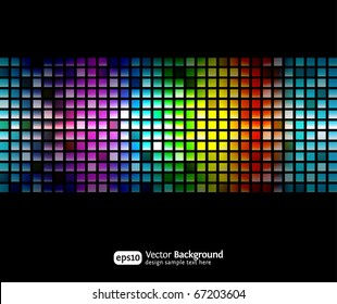 Black business abstract background with color gradients. Modern vector illustration.