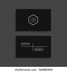 Black business card images stock photos vectors shutterstock black business card template for your work vector eps10 design wajeb Images