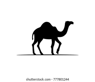 Black Camel Illustration Animal Logo Silhouette