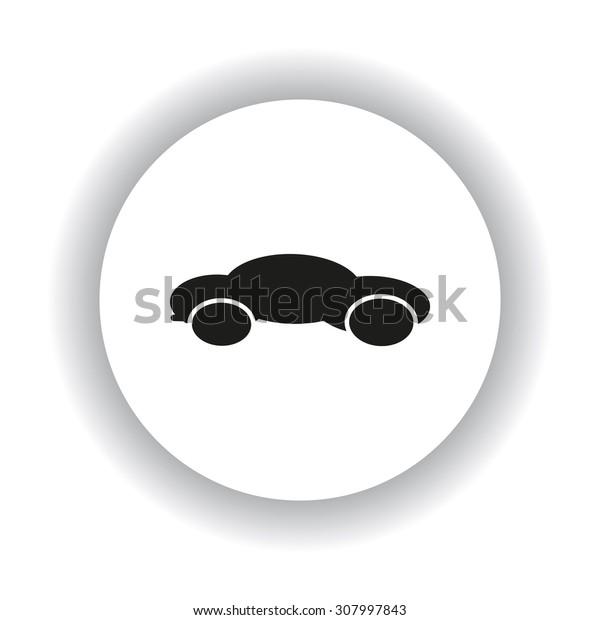 black car. icon. vector design