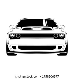 black car logo with a white background