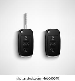 Black car remote key