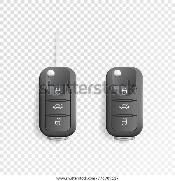 Black Car Remote Key Car Alarm Stock Vector (Royalty Free