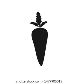 Black carrot icon, on the white background.