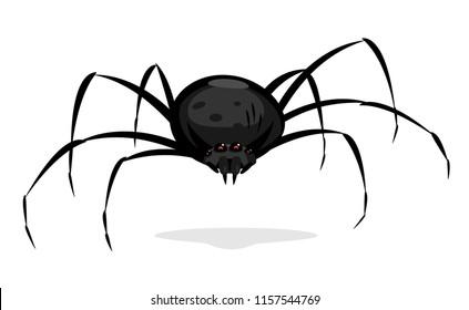 Black Cartoon Spider