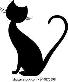 black cat silhouette images stock photos vectors shutterstock rh shutterstock com black cat clipart png black cat clipart images