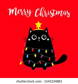 Christmas Black Cat Images Stock Photos Vectors Shutterstock