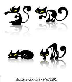 black cat silhouettes