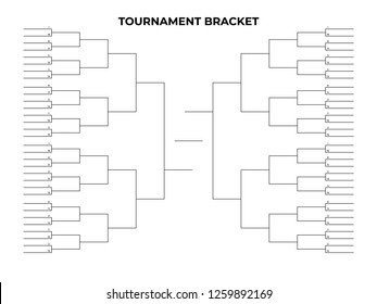 Black championship bracket. Empty tournament infographics template.