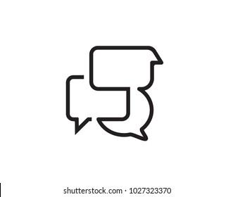 Black chat icon vector design for websites.