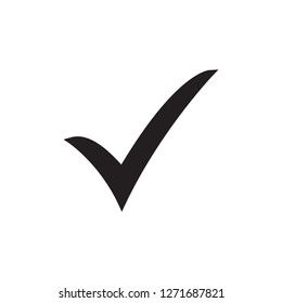 Black check mark icon. Tick symbol, tick icon vector illustration.