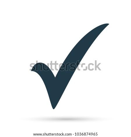 Black Check Mark Icon Tick Symbol Stockvector Rechtenvrij
