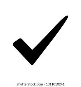 Black check mark icon. Vector illustration
