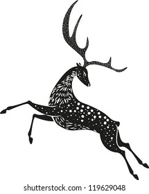 Black Christmas deer