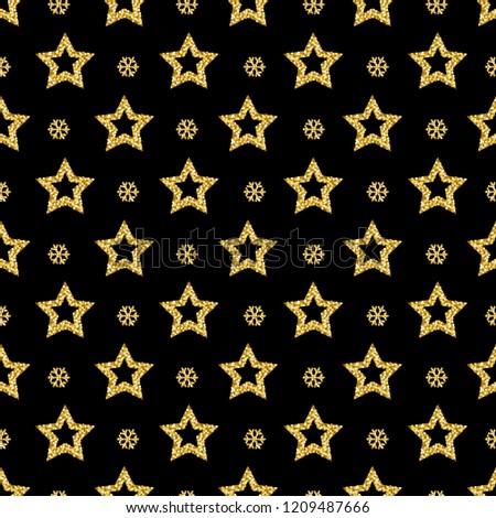 black-christmas-pattern-background-golde