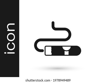 Black Cigar icon isolated on white background.  Vector