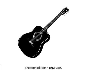 black classic guitar stencil ready for vinyl cut