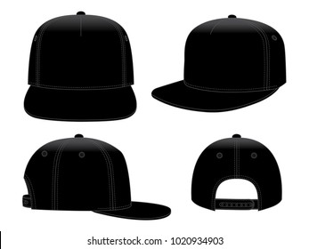 Black Classic Hip Hop cap & snap back