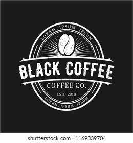 black coffee vintage logo