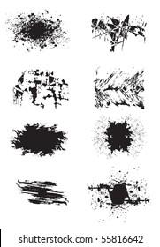 Black color paint spashes