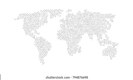 World map alphabet images stock photos vectors shutterstock black color world map isolated on white background abstract flat template with letters for web gumiabroncs Choice Image