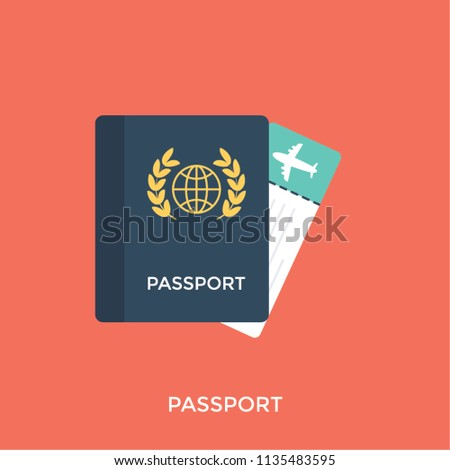 Black Colored Booklet Visa Symbol Representing Stock Vector Royalty