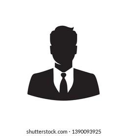 black colour business man icon vector