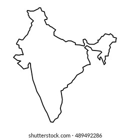 India Map Outline Images, Stock Photos & Vectors | Shutterstock