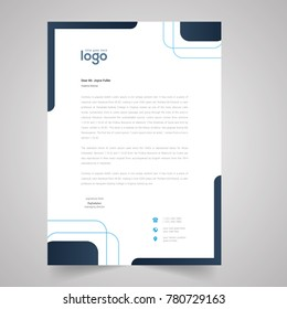 black corporate identity set or kit for your business. Letter templates. Vector format, editable, place for text