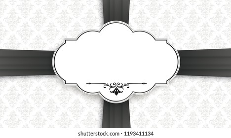 Black cover with classic label for the obituary. Eps 10 vector file.