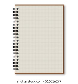 black cover spiral notepad notebook isolated on white vector