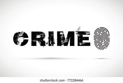 black crime finger print