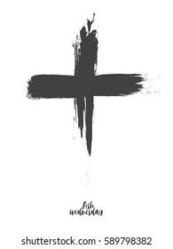Black cross - ash wednesday
