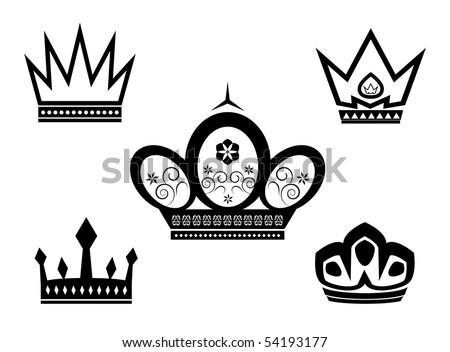Black Crown Symbol Stock Vector Royalty Free 54193177 Shutterstock