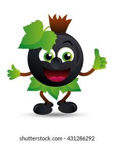 Black currant mascot