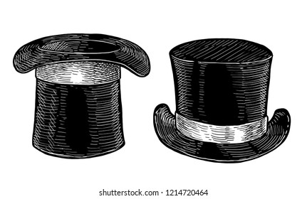Black cylinder illustration, drawing, engraving, ink, line art, vector