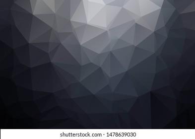 Black dark Low poly crystal background. Polygon design pattern. black dark Low poly vector illustration, low polygon background.